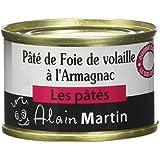 ALAIN MARTIN Pack de 3 Pâté de Pur Foie de Volaille à l'Armagnac Btes - Lot de 5