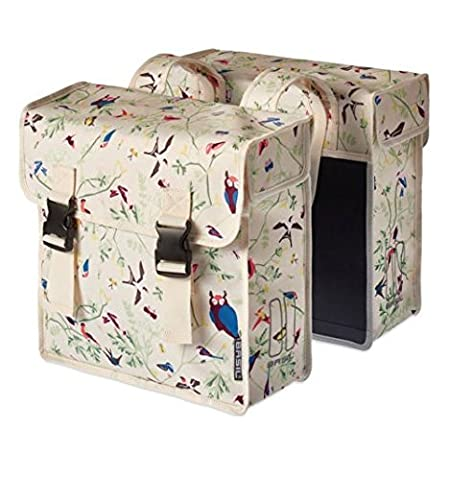 BASIL WANDERLUST-DOUBLE BAG, double bag, of water-repellent polyester, 35L, Ivory