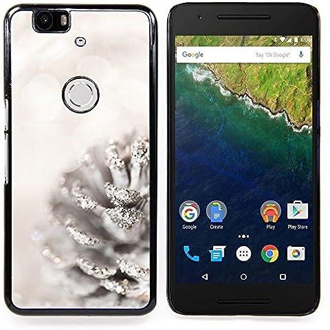 For Huawei Google Nexus 6P Case , Blanca Acorn Glitter Nieve Navidad
