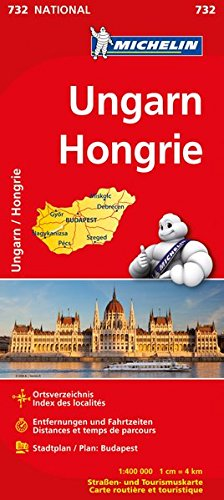 Ungarn (Michelin Nationalkarte)