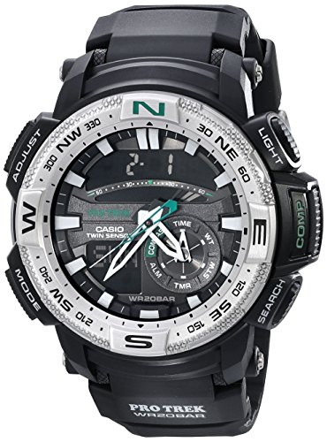 Casio Herren Pro Trek Twin Sensor Compass Analog-Digital Sportart Quartz Reloj (Modelo de Asia) PRG-280-1D