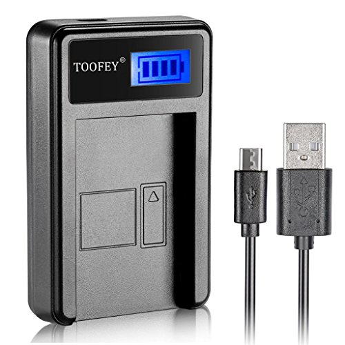 NP-FZ100 LCD Display USB Battery Charger for Sony NPFZ100 Battery, BC-QZ1 Charger and Sony Alpha 9, Sony α9, Sony Alpha 9R, Sony α9R, Sony Alpha 9S, Sony α9S, Sony α7R III -