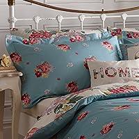 Dreams n Drapes Camberley - Set di 2 federa copricuscino, modello con bordi, stile vintage, motivo floreale, multicolore
