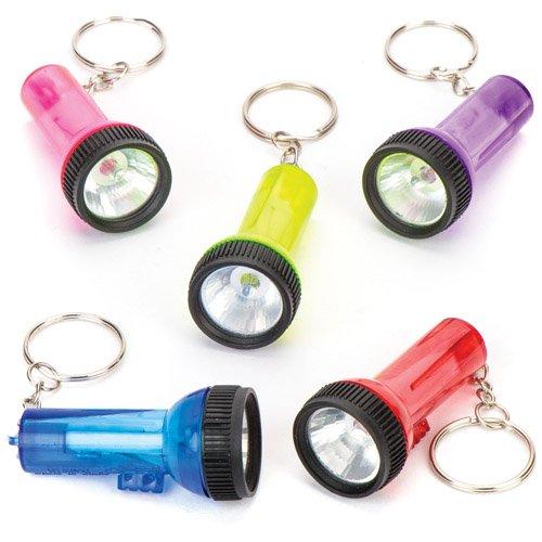 mit Mini-Taschenlampen als lustiges Spielzeug für Kinder zum günstigen Preis – perfekt als kleine Party-Überraschung für Kinder zu Halloween (6 Stück) (Lustige Ideen Für Halloween-partys)