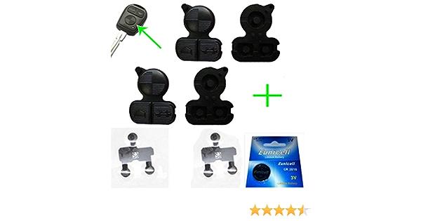 2x Für Funkschlüssel Schlüssel Tastenfeld Gummi 1x Batterie Cr2016 2x Kontaktfolie Auto