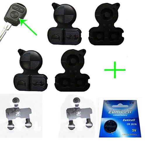 2x für BMW Funkschlüssel Schlüssel Tastenfeld Gummi + 1x Batterie CR2016 + 2x Kontaktfolie