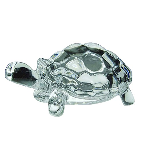 Feng Shui Clear Crystal Turtle Vaastu Geschenk Career & Luck Tortoise 100 g