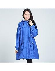Veste coupe-vent étanche pour adultes Longue section de poncho ultra-léger Poncho Raincoats à la mode 3 couleurs