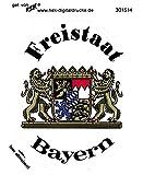 PVC - Aufkleber - Wappen Freistaat Bayern - 301514 - Gr. ca. 7,8 x 9,5 cm