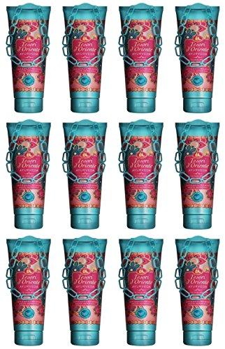 12 x Tesori D 'orient Aromatic Shower Gel Cream Ayurveda Shower Gel 250 ml