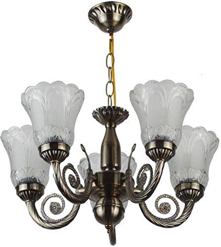 Afast Unique Design Glass Chandelier with Engraved Transparent Glass Lamp A1