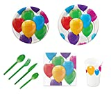 Pack para fiesta infantil o cumpleaños con diseño de globos - S