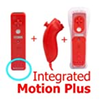 New Red Wii Remote Controller with Bu...