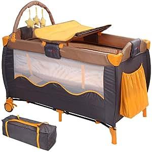 infantastic lit b b de voyage pliant lit parapluie roulettes avec matelas et sac de. Black Bedroom Furniture Sets. Home Design Ideas