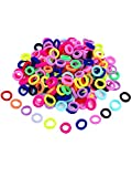#6: 50 Pieces Assorted Colors Mini Hairbands Girl Baby's Elastic Hair Ties Tiny Soft Rubber Bands for Baby Kids