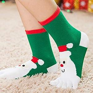 Amosfun 5 Paar Christmas Toe Socks Cartoon Pattern Komfortable Baumwollsocken für Kinder