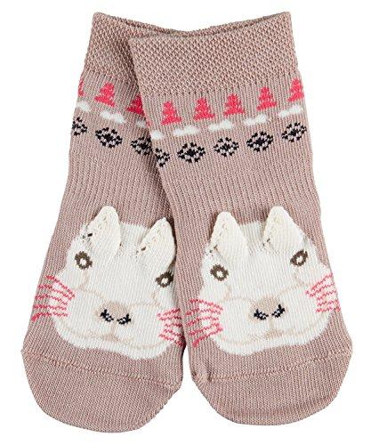 FALKE Snow Bunny, Calze Unisex-Bimbi, Grau (Taupe 5461), 9 mesi