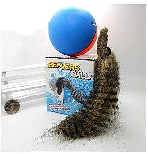 Gwill 1 STÜCKE Haustier Katze Spielzeug Elektrische Biber Wiesel Spielzeug Rolling Ball Jump Spielzeug für Katze Hündchen Lustige Beweglichen Spielzeug Katze Liefert Farbe Zufällig -
