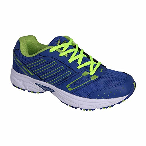 Action Campus 3G181 Royal Blue and Pista Green Colour Running Shoes for Men 8UK