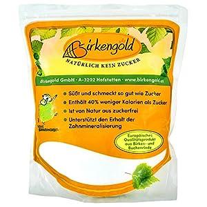 Birkengold Birkenzucker Xylit, 1 kg Beutel, 100 % Premium Xylit aus Finnland,...