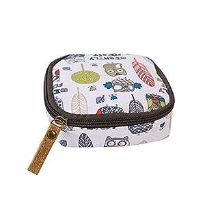 Gluckliy Mini Cosmetic Bag Makeup Pouch Sanitary Napkin Holder Storage Zipper Coin Purse Handbag