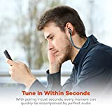 from TaoTronics Bluetooth Earphones, TaoTronics Bluetooth 4.2 Headphones Stereo Magnetic Earbuds, Secure Fit for Sport, Gym with Built-in Mic-Blue Model TT-BH07B UK