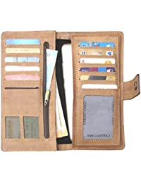 ABYS Genuine Leather Women Wallet  Hand Bag  Clutch  Long Wallet With Mobile Slot