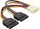 Mod-It Strom-Adapterkabel für SATA-Festplatten (Molex auf 2x SATA) ca. 15cm