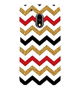 Colorful Zig Zag Pattern 3D Hard Polycarbonate Designer Back Case Cover for Motorola Moto G4 :: Motorola Moto G (4th Gen)