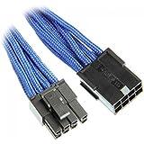 BitFenix BFA-MSC-62PEG45BK-RP câble électrique - cables électriques (Mâle/Femelle, PCI-E (6+2 pin), PCI-E(6+2 pin), Droit, Droit, Noir, Bleu)