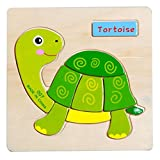 Axibi Holz Puzzle Schildkröte Pädagogischen Entwicklungs-Baby Kids Spielzeug