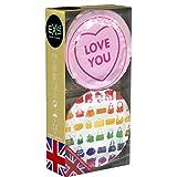 EXS Girls Mix - Sichere Kondome in süßem Design - 12er Pack | Extrem sicher und hochwertig | Doppelter Schutz vor dem Einreißen | Hoher Tragekomfort | Wirksame Verhütung | Kondome für Frauen