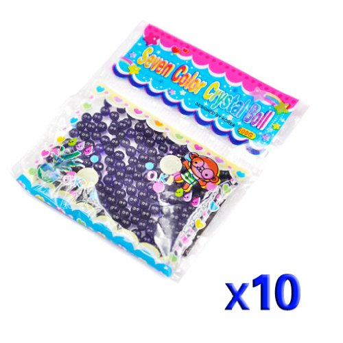 Gleader 10 Paquetes de Bola Grano Cuenta de Agua Cristal Gel para Decoracion - Purpura