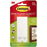 Command Large Picture Hanging Strips, 4 pairs
