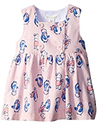 Pumpkin Patch Baby Girls' Crystal Pink Babycord Print Pinnie