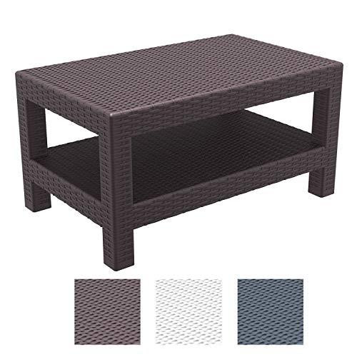 Tavoli Da Giardino In Polipropilene.Clp Tavolino Design Rattan Da Esterno Monaco Tavolo Da Giardino In