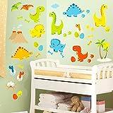 homeevolution groß Cartoon Dinosaurier schälen und Stick Wandtattoo für Kinderzimmer Decor