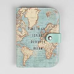 Idea Regalo - Sass & Belle - Custodia per passaporto con mappa del mondo vintage One