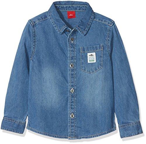 s.Oliver Baby-Jungen Hemd 65.807.21.6950, Blau (Blue Denim Non Stretch 56y2), 80