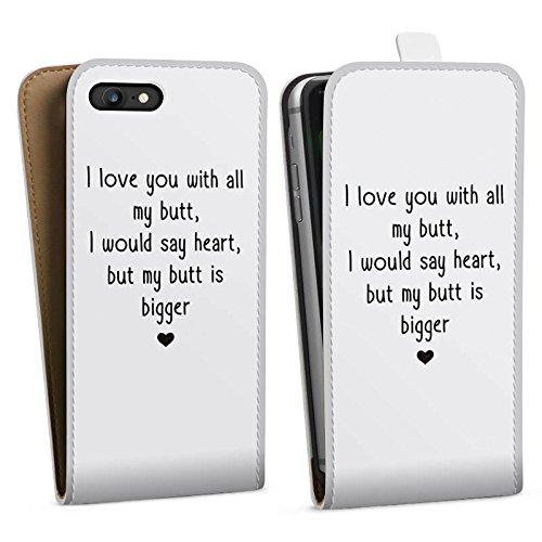 Apple iPhone X Silikon Hülle Case Schutzhülle Liebe Lustig Statement Downflip Tasche weiß