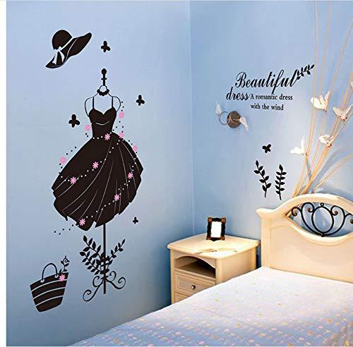 (Lbonb Little Black Dress Wandaufkleber Frauen Markt Dekoration Schwarz Schönheit Garderobe Für Korridor Schlafzimmer Dekoration)