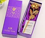 #3: JaipurCrafts 24K Gold Rose with Gift Box and Carry Bag