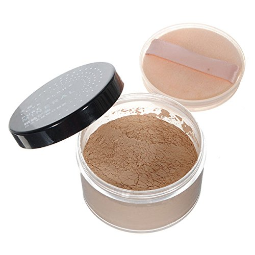 Bluelover Make-Up Kosmetische Mineral Gesichtshaut Loose Powder Foundation (Schiere Öl)