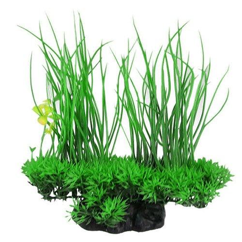 strimusimak Verde Artificiale Decor Long Leaf pianta Finta Erba dell' Acqua per Acquario