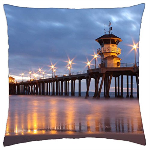Huntington Beach Pier - Throw Pillow Cover Case (18
