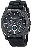 Fossil Holiday 2009 FS4487 45mm Stainless Steel Case Black Silicone Mineral Men's Watch
