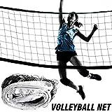 BeneU Volleyballnetz, 9,5 M 1 M Polyethylen PE Tragbares Volleyballnetz Vierseitige Dicke Leinwandkante Standard-Volleyballnetz Indoor Outdoor Sports Equipment Einstellbar Faltbares Badminton-Tennis
