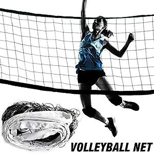BeneU Volleyballnetz, 9,5 M 1 M Polyethylen PE Tragbares Volleyballnetz Vierseitige Dicke Leinwandkante Standard…