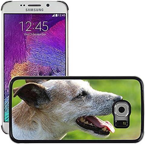 Carcasa Funda Prima Delgada SLIM Casa Case Bandera Cover Shell para // M00133651 Cane Capo Close Parson Russell Terrier // Samsung Galaxy S6 EDGE (Not Fits S6)