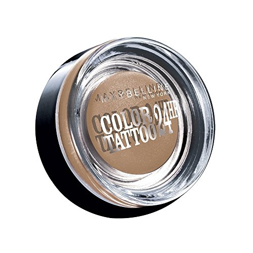 Maybelline Eyestudio Color Tattoo 24H Creme-Gel-Lidschatten Nr. 35 One And One Bronze, leuchtende Farbe dank innovativer Tinten-Technologie, bis zu 24h Halt durch die Creme-Gel-Formel, 4 g (Lidschatten Tattoo)